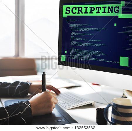 Scripting Computer Language Code Programming Developer Technology Concept
