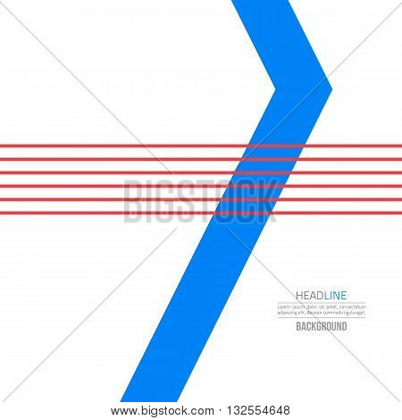 Material design background. Flat design layout. Abstract shape material design. Blue modern design. Sea material design concept.