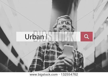Urban City Center Commerce Community Town Concept