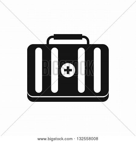 First aid kit icon in simple style isolated on white background