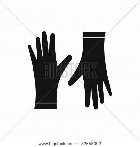 Protective gloves icon in simple style isolated on white background