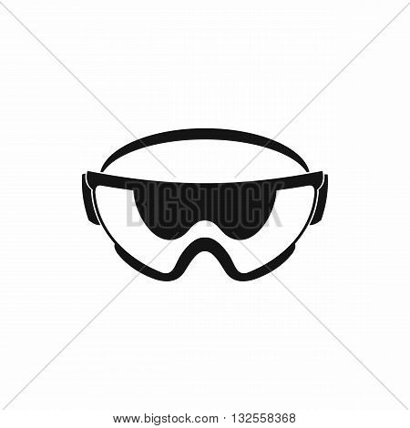 Safety glasses icon in simple style isolated on white background