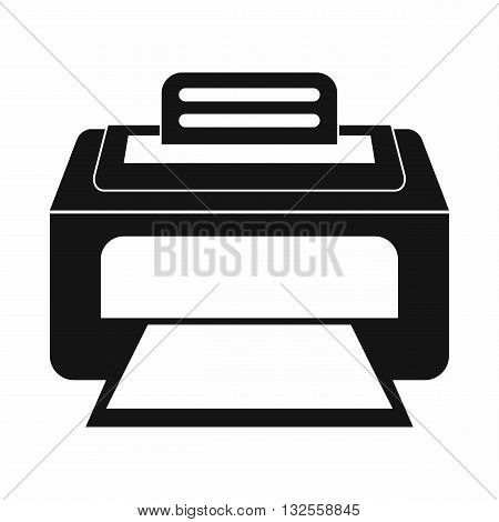 Modern laser printer icon in simple style isolated on white background