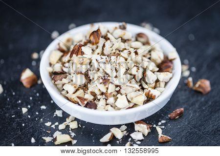 Slate Slab With Minced Hazelnuts