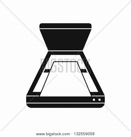 Open scanner icon in simple style isolated on white background