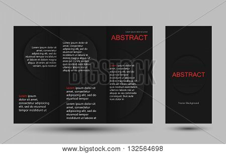 Strict simple design templates collection for banners, flyers, placards and posters. Vector