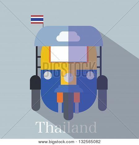 Tuk Tuk Thailand icon eps 10 format