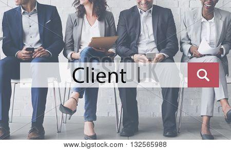 Client Commerce Consumer Patron Person User Concept