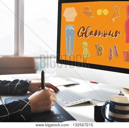 Fashion Apparel Garment Design Graphic Concept
