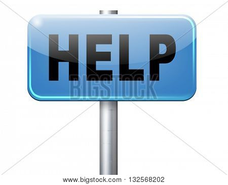 help search find assistance and helping hand, support or help desk online support help road sign, billboard.