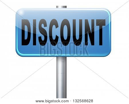 discount lowest price special offer bargain and sales discount, road sign billboard.