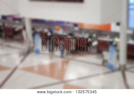 Abstract blurred background of Airport, stock photo
