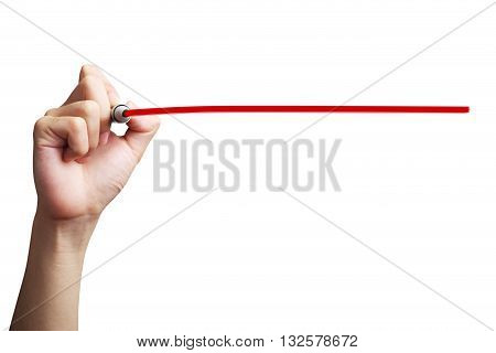 Hand Drawing Red Line
