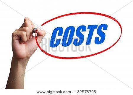 Costs Word Concept
