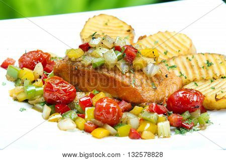 Deep fried carp in sweet-sour sauce chinese style dish