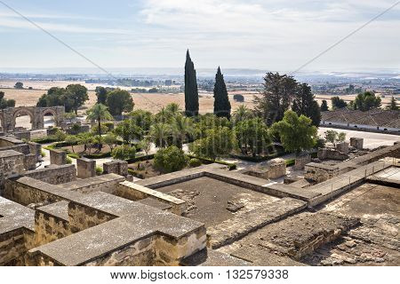 The ruins of Medina Azahara a fortified Arab Muslim medieval palace-city near Cordoba Spain
