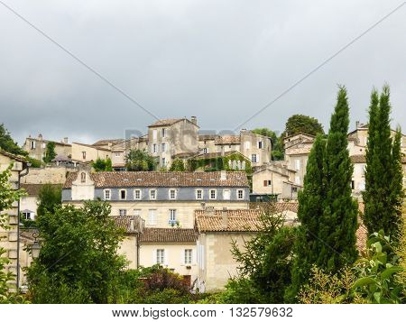 The architecture of the city of St. Emilion, France