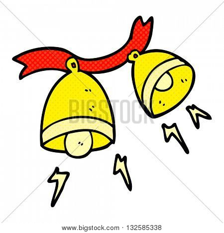 freehand drawn cartoon jingle bells
