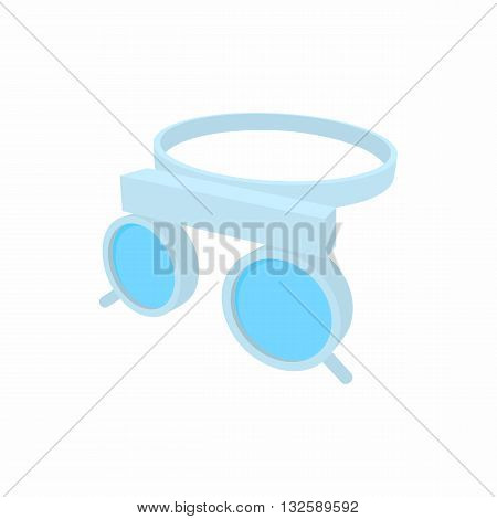 Trial frame for checking patient vision icon in cartoon style on a white background