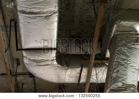 Air ventilation pipes in an old building.