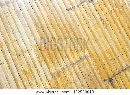 Old natural bamboo fence texture background bamboo wall texture with scratch and dirty