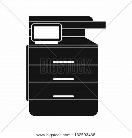 Multipurpose device, fax, copier and scanner icon in simple style isolated on white background