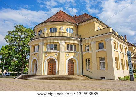 Heidenheim Germany - May 26 2016: Concert hall of Heidenheim an der Brenz