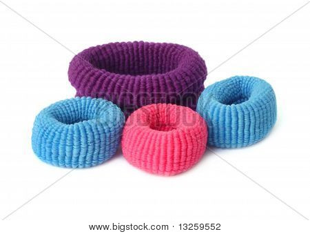 Close up of woolen hair band