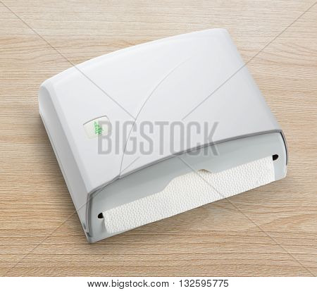 New White Towel Dispenser