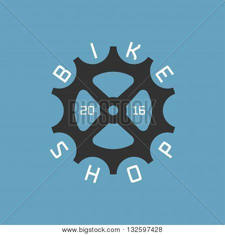 Bicycle shop vector logo design element. Biking concept