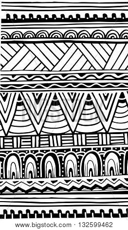 African abstract pattern, background for your design