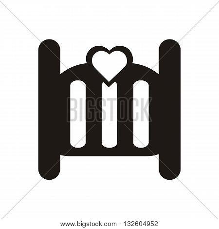 design Baby icon crib_Black illustration logo symbol
