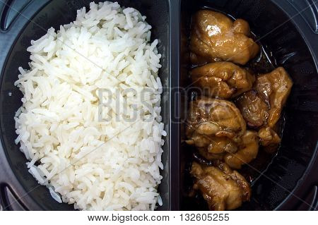 Food Box delicatessen rice chicken teriyaki menu.