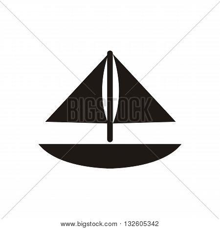design Baby icon toy boat_Black vector illustration