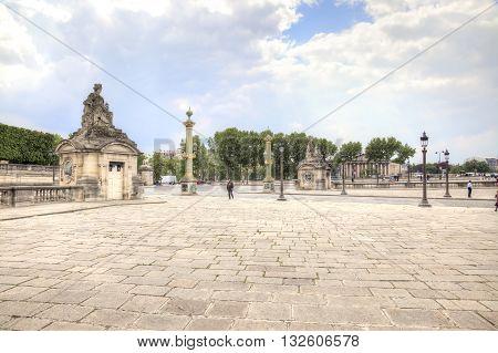 PARIS FRANCE - April 30.2014: Place de la Concorde in historical part of city