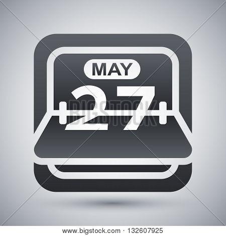 Vector Flip Calendar icon. Flip Calendar simple icon on a light gray background