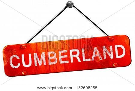 cumberland, 3D rendering, a red hanging sign