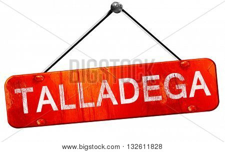 talladega, 3D rendering, a red hanging sign