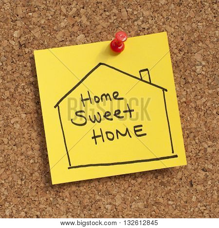 Real estate / Property / Mortgage concept with home sweet home sign