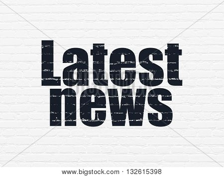 News concept: Painted black text Latest News on White Brick wall background