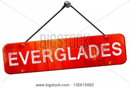 Everglades, 3D rendering, a red hanging sign