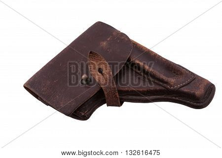 The old scratched holster from the military gun of Makarov of times of the USSR