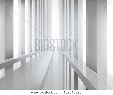 Empty large hall. Vector illustration.