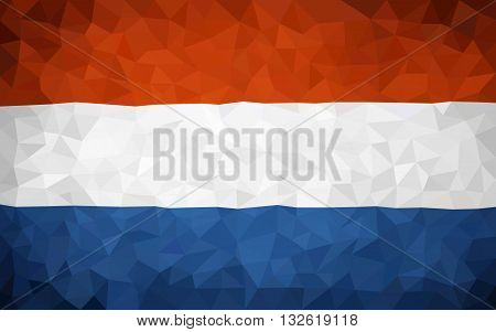 Triangulated Holland flag (high poly) In EPS 8 format
