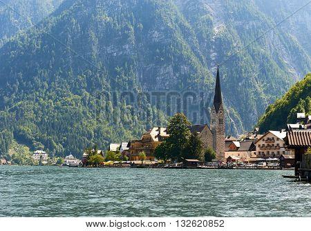 Hallstatt, picturesque village in Austria. Central Europe