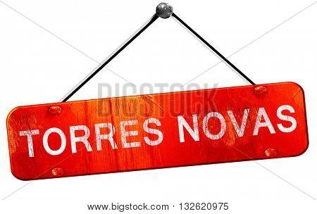 Torres novas, 3D rendering, a red hanging sign