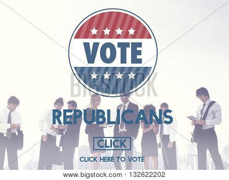 Republican Democrat Election Group President Concept
