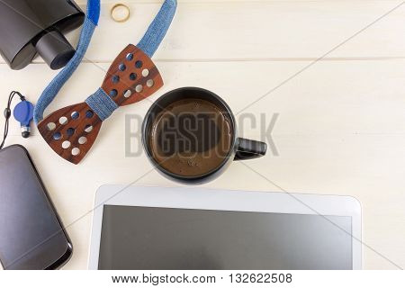 Male Fashion And Business Accessories Top View