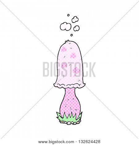 freehand drawn cartoon toadstool
