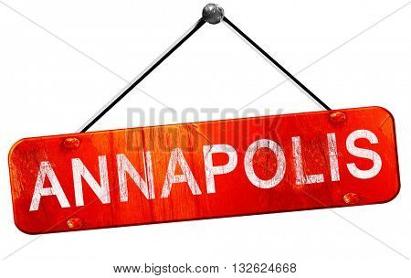 annapolis, 3D rendering, a red hanging sign